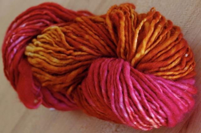 Knittydirtygirl_handspun_magentamelon